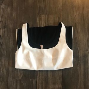 Bailey 44 White and Black Faux Leather Tank